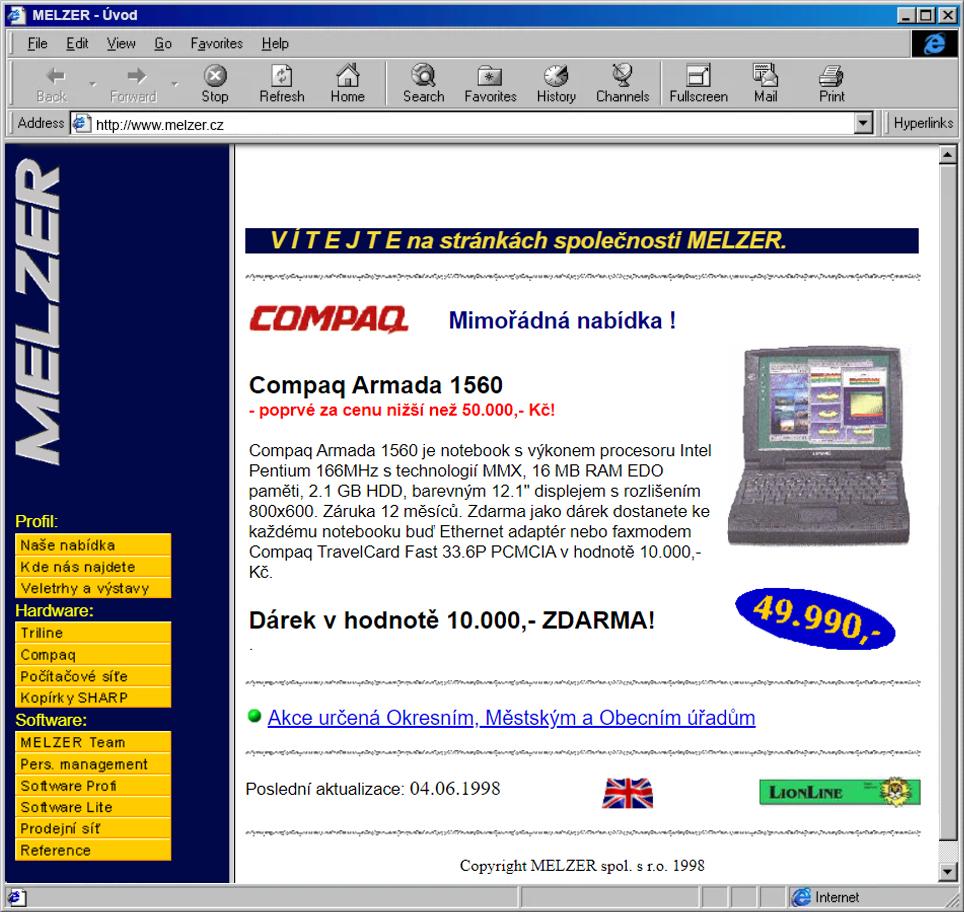 Vznik webových stránek